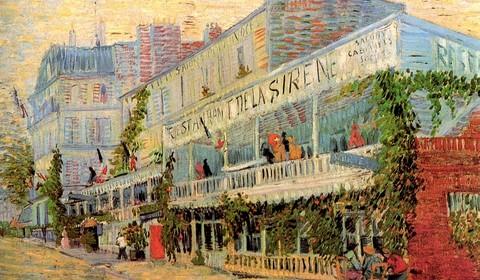 Винсент Ван Гог. Ресторан Сирена в Аньере. 1887. Холст, масло. 54.5 x 65.5. Музей д'Орсэ, Париж.
